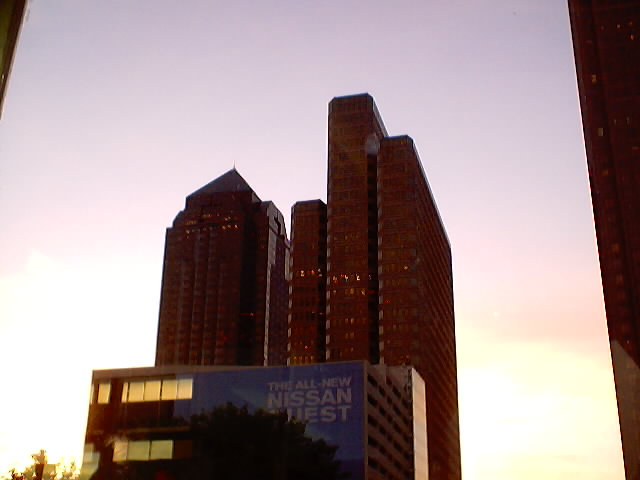 Sunset in downtown Dallas.