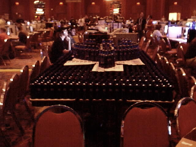 Yes, that's right. An entire table full of bawls.