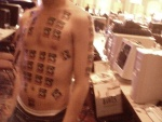 This guy won something for havin 50 AMD stick-on tattoos on his body.