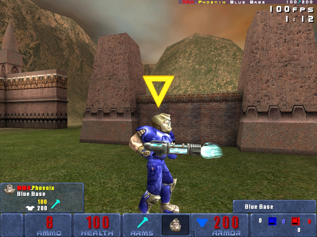 Ion Gun being wielded by a Blue Doom Warrior.