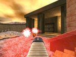The new and improved Plasma Rifle.  Red plasma effects shown.