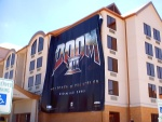 The four-story tall Doom3 banner.