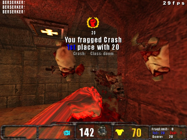 First-Person View of Berzerker In Use