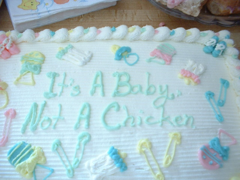 The baby was born on March 28th. The baby shower was earlier that day.