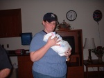 Krissy holds the baby!