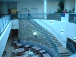 Here's some hospital pics! This is the central atrium with the cafeteria.