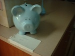 The hospital gave us a piggy bank as a gift...