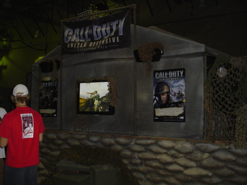 Call of Duty expansion booth.