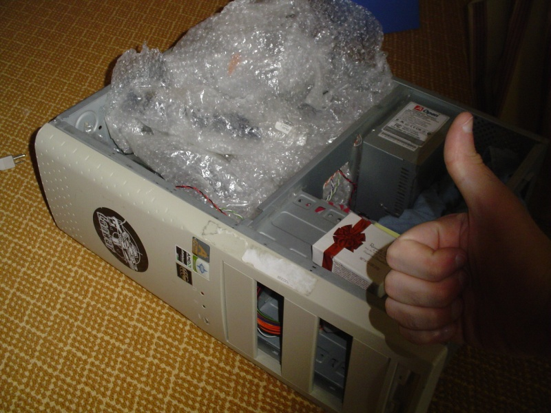 This is how I packed my PC for the flight.