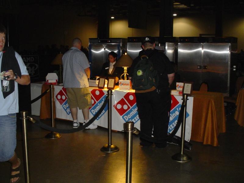 Dominos - nine bucks for a medium pizza.