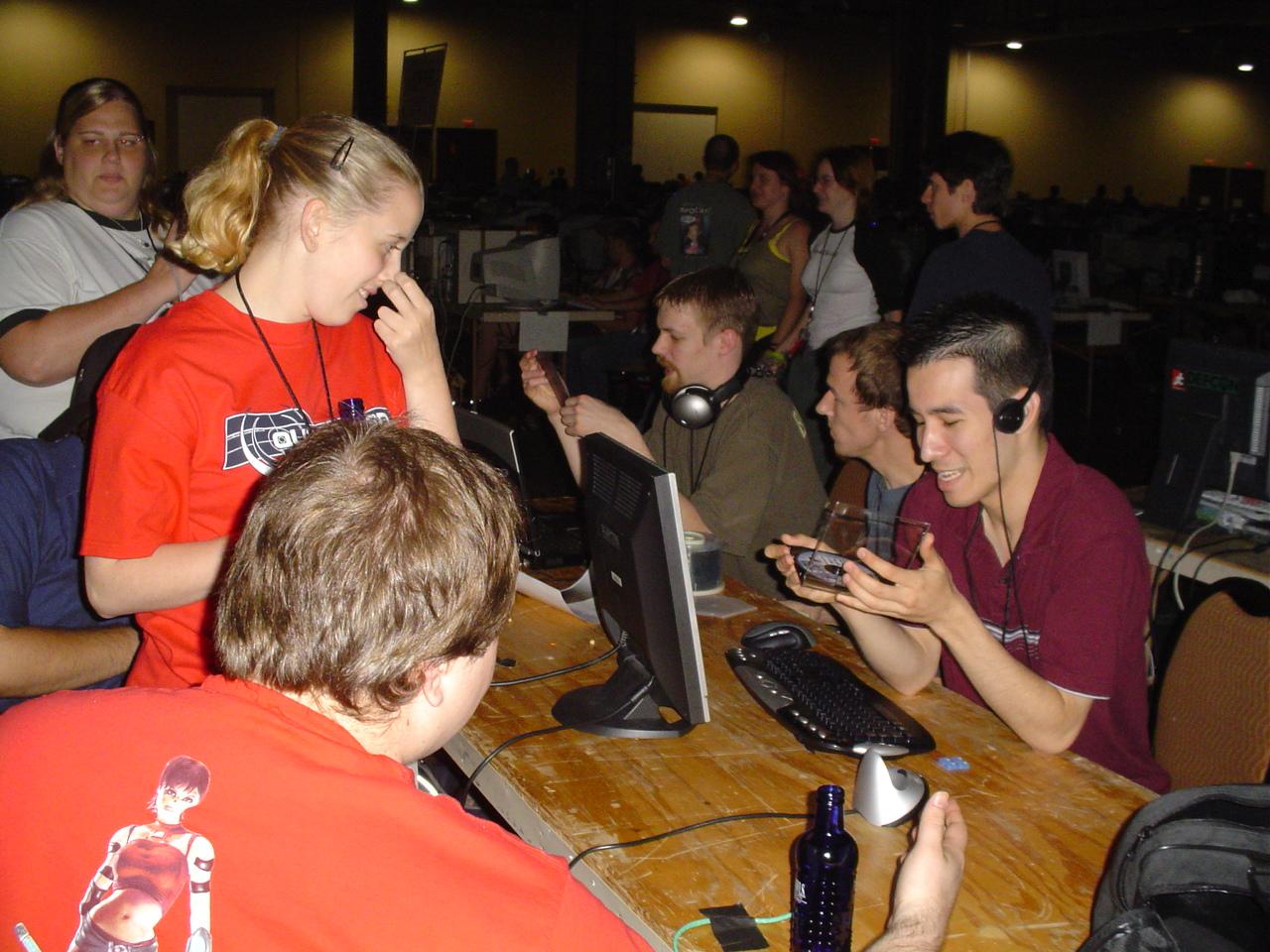 Woodsman pimpin' Gen at QuakeCon!