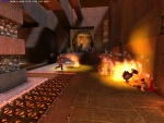 Lava + explosives = boom!