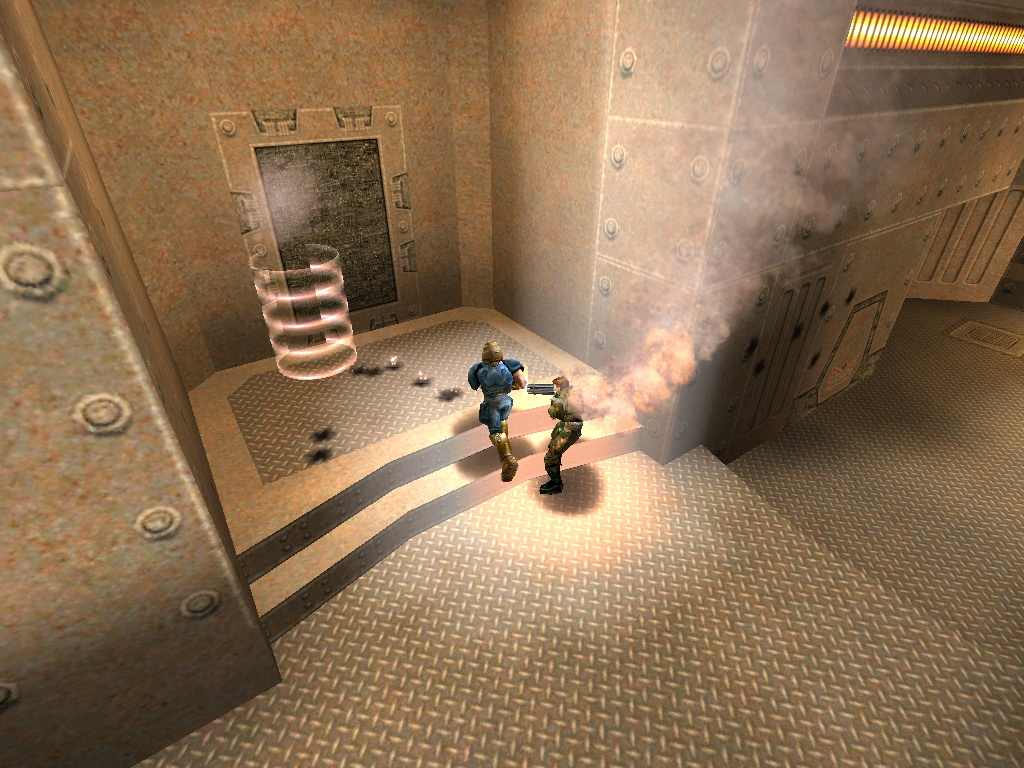 Sources tell us that a pyrotechnic malfunction was responsible for severe burns and multiple telefrags.