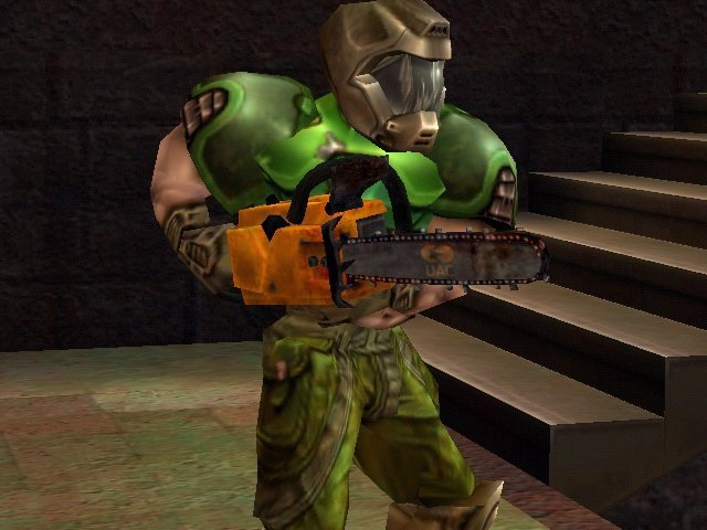 Doom shows off his new Chainsaw
